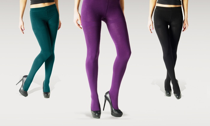Chinese Laundry Fleece-Lined Tights: $16 for Two Pairs of Chinese Laundry Fleece-Lined Tights in S/M, M/T, or XL ($36 List Price). Four Colours Available.
