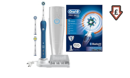 One or Two Braun Oral-B Pro 5800 Series Cross Action Electric Toothbrushes with Optional Shaver Plug With Free Delivery
