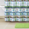 Robot or Elephant Shower Curtain with Rug Sets (15-Piece)