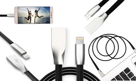 Anti-Bruch-Ladekabel aus Aluminium für Apple Lightning oder microUSB Geräte (bis zu 89% sparen*)