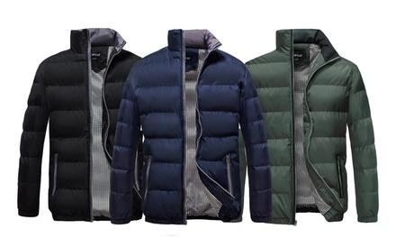 u2wear Men's Classic Bomber Puffer Coat