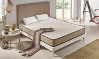Matelas Luxury Bamboo Zeng 21 cm, avec 1 ou 2 oreillers viscoélastiques soja vert offerts