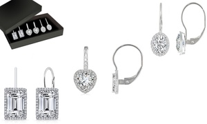 3-Pack Leverback Earring Set Made with Swarovski Crystal by Mina Bloom