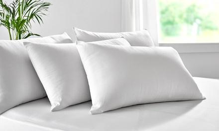 Pack de 2 almohadas de fibra con tratamiento aloe vera de firmeza baja
