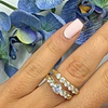 1.65 CTTW Gold Plated Cubic Zirconia Engagement Ring and Band (2-Pc.)