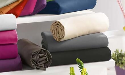 Draps housse 100% coton, disponibles en plusieurs tailles