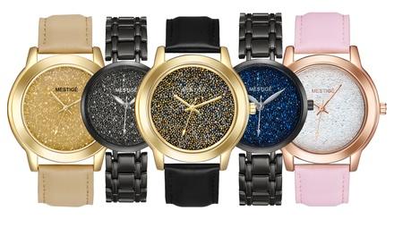 Uhr mit Swarovski®-Kristallen im Modell nach Wahl inkl. Versand (Stuttgart)