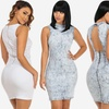 Sleeveless Denim Short Dresses