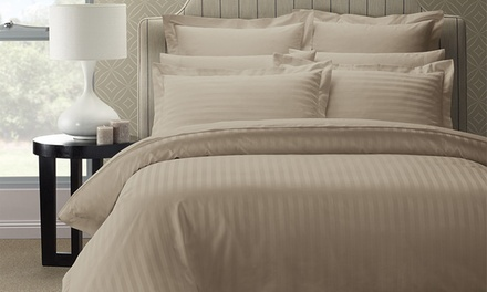 for a 1200TC Damask Stripe Cotton Blend Quilt Cover Set Don't Pay up to $269.95