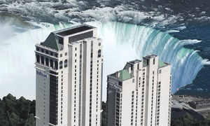 4-Star Niagara Falls Hilton with Wine-and-Dine Package at Hilton Niagara Falls/Fallsview Hotel & Suites - Premium Collection, plus 6.0% Cash Back from Ebates.