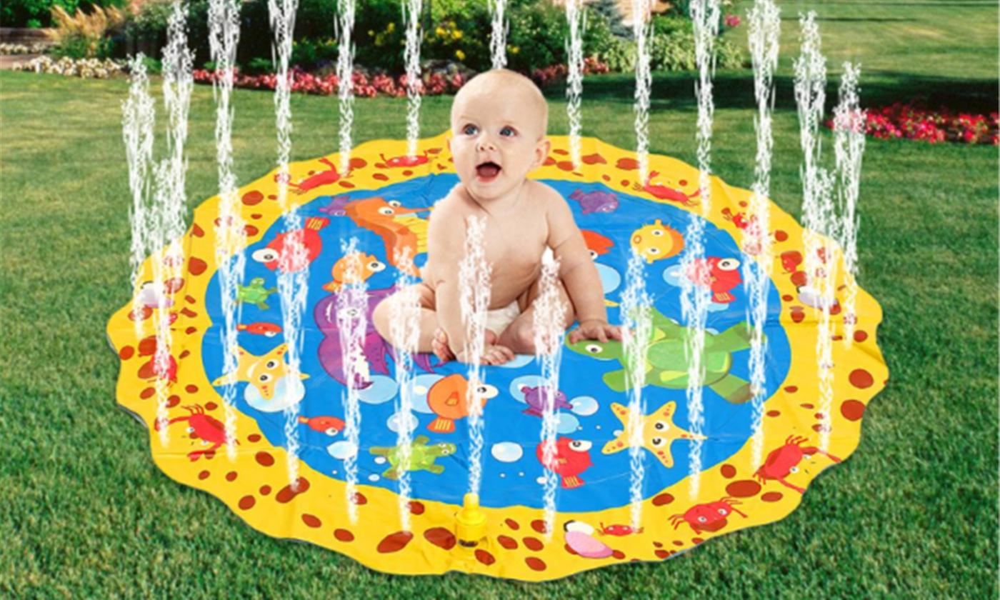 Kids' Inflatable Round Splash Water Sprinkler