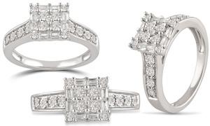 DiamondMuse 1/3 CTTW Diamond Wedding Ring in Sterling Silver