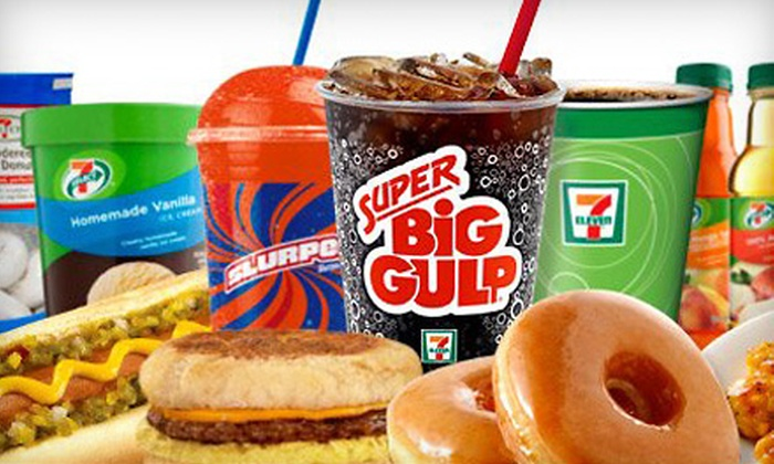 7-Eleven - Multiple Locations: 5, 10, or 20 Groupons, Each Good for a Coffee, Slurpee, or Double Gulp at 7-Eleven (Half Off)