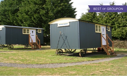 Dorset: Up to Three-Night Shepherd's Hut Stay for Two with Breakfast at Drusilla's Inn