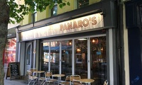 Two or Four Pizzas with One or Two Bottles of Wine for Two or Four at Panaros (Up to 51% Off)