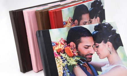"""$120 for One 11""""x9"""" Madison Photo Book from Picaboo ($199.99 Value)"""