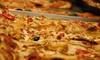 Cabra's - Cabra's: Menu d'asporto con una o 2 teglie di pizza, dolce e bibita per 4 o 8 persone da Cabra's (sconto fino a 60%)