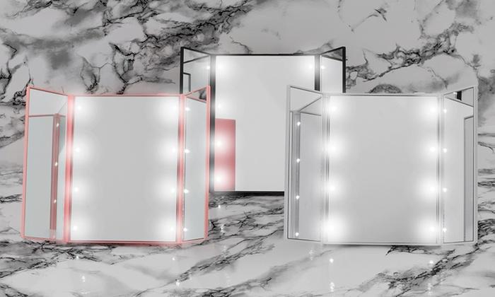 Specchio 8 LED Tri-Fold Globrite