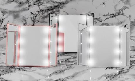 1 o 2 espejos portátiles con luz LED