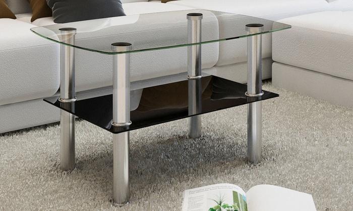 Tavolino da caff in vetro groupon goods for Groupon shopping arredamento