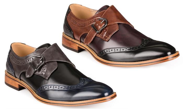 79fac86b3e979 Gino Vitale Men's Milano Monk Strap Dress Shoes | Groupon