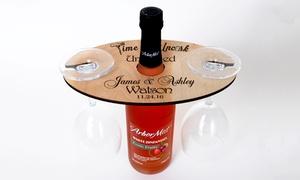 Cabanyco: Uno o 2 porta biccheri da vino in legno personalizzabili con Cabanyco (sconto fino a 64%)