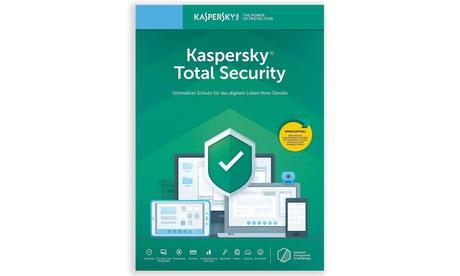 Kaspersky Total Security 2021 para 1, 3 o 5 dispositivos durante 1 o 2 años