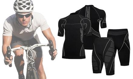 Tenue de compression pour homme   tee-shirt et short (SaintEtienne)