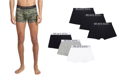 Two- or Three-Pack of Brave Soul Mens Boxers
