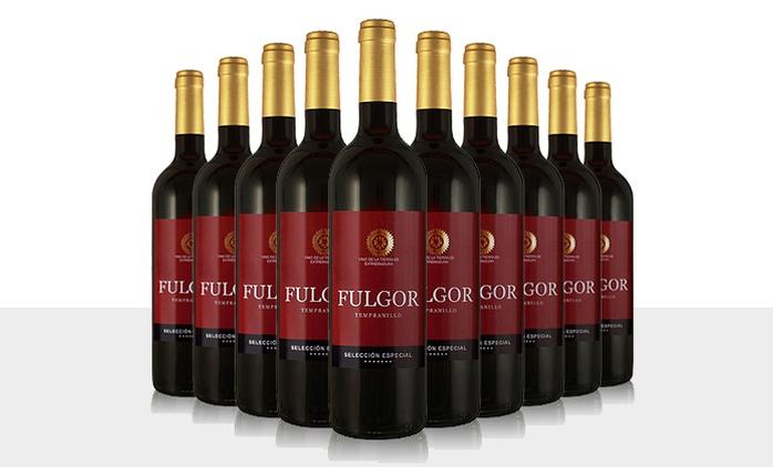 10 Flaschen Tempranillo Fulgor Selección Especial 2014 Rotwein inkl. Versand (56% sparen*)