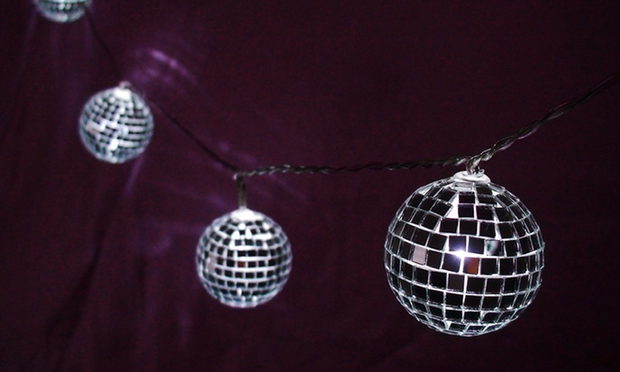 Lighted Mirror Ball String Lights Groupon
