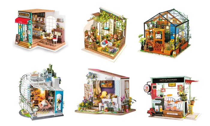 Up To 81 Off On Diy 3d Wooden Dollhouse Model Groupon Goods