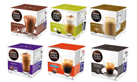 48 Pods of Nescafe Dolce Gusto in Choice of Flavour