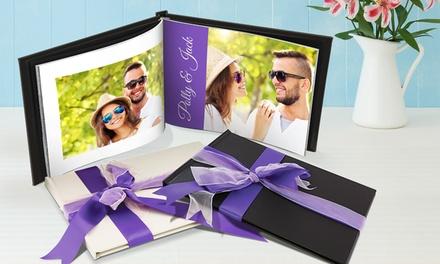 Leren fotoalbum op A4formaat, online te personaliseren bij Printerpix