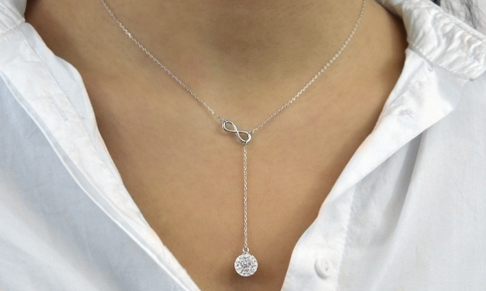 Groupon Goods: Y-Shaped Necklace with Infinity Symbol and Austrian Elements Crystals (Shipping Included)