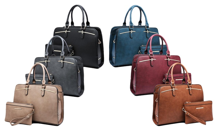 6350ea61eef515 Up To 43% Off on MK Belted Satchel with Wristlet | Groupon Goods