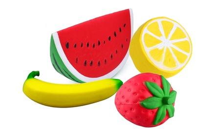 Set of Four Jumbo Slow Rise Fruit Squishies
