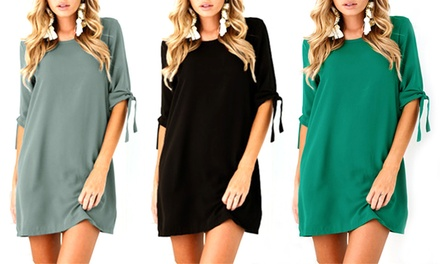 TieSleeve MiniShift Dress: One $19 or Two $29