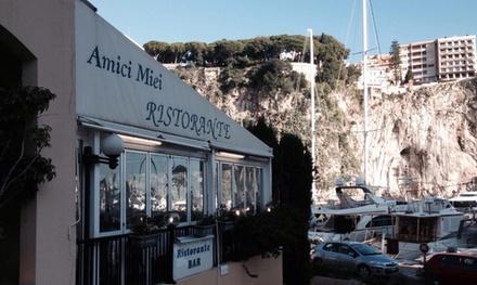 Plat et dessert au choix à la carte avec entrée en option pour 2 personnes dès 35 € au restaurant Amici Miei