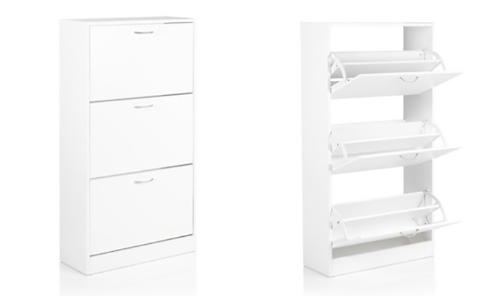 Groupon White Shoe Cabinet