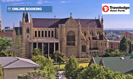 Perth, CBD: 1- or 2-Night City Escape for Two with Wi-Fi and Late Check-Out at Travelodge Hotel Perth
