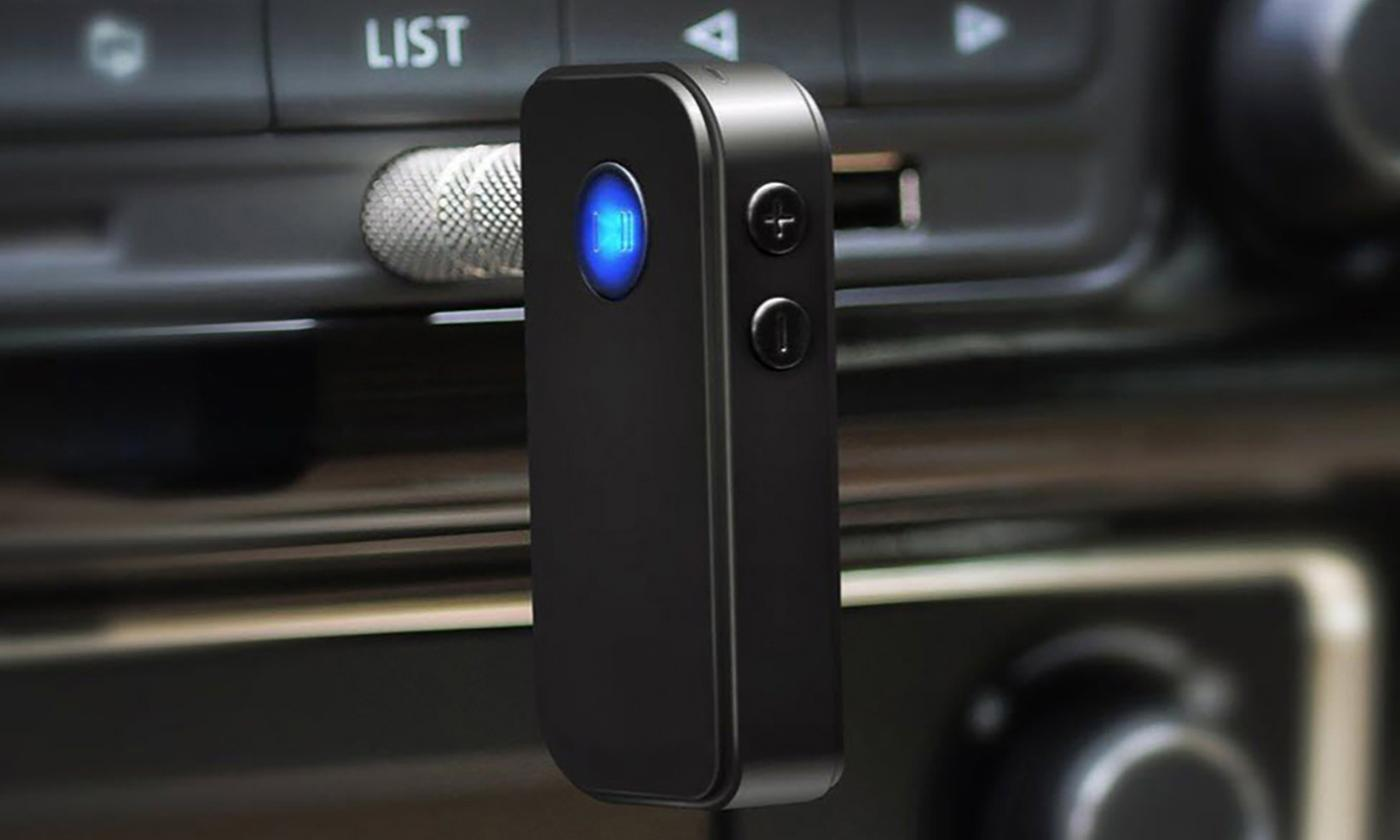 One or Two Portable Bluetooth 4.1 Receiver Hands-Free Audio Adapters