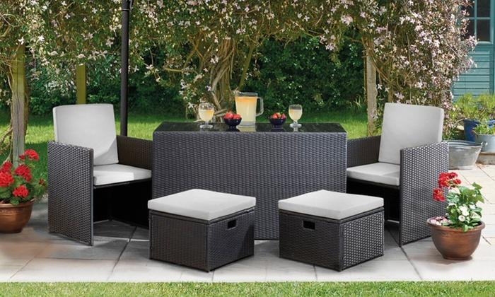 torino outdoor cube furniture set