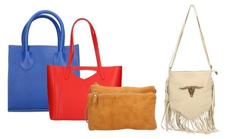 Borsa Olivia Mei in pelle disponibile in vari modelli e colori
