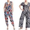Mlle Gabrielle Women's Plus-Size Printed Jumpsuits