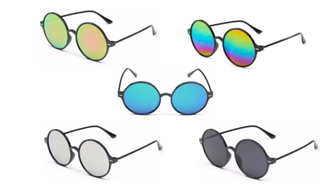 1 o 2 paia di occhiali da sole unisex Round Vintage Ellie...