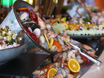 Lunch or Themed Dinner Buffet with Drinks for Up to Four at Vista Restaurant at 5* Ajman Saray