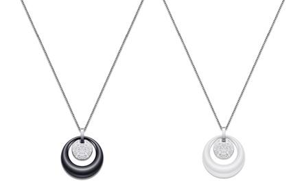 1 ou 2 colliers Aaren avec pendentif en céramique et cristaux zircons cubiques