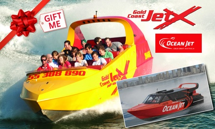 Jet Boat Ride with Ocean Thrill Ride for One Child $85 or Adult $109 with Gold Coast Jet X Up to $141 Value