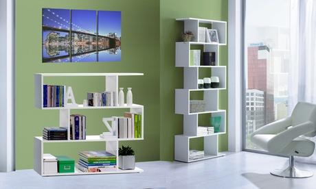 Libreria Zig Zag disponibile in 2 modelli